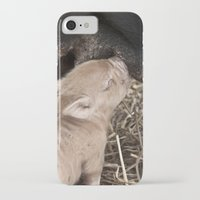 piglet iPhone & iPod Cases featuring Piglet by Rachel's Pet Portraits