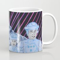 tron Mugs featuring Tron by Robert E. Richards