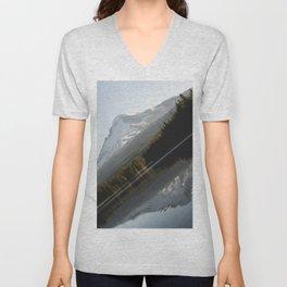 Mountain Slide Unisex V-Neck