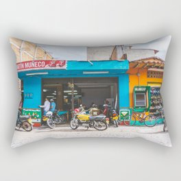 On the Street, Guatape, Colombia Rectangular Pillow