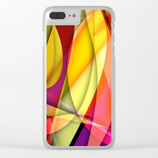 Abstract #367 Clear iPhone Case