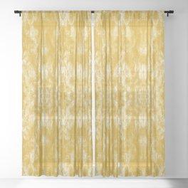 Golden Tie-Dye / Sunshine Abstraction Sheer Curtain
