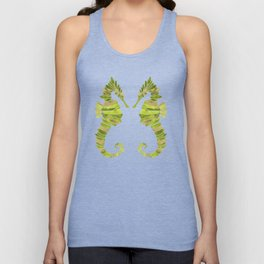 Seahorse – Lime & Gold Unisex Tank Top