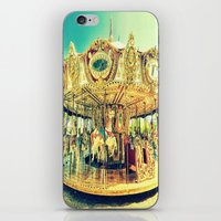 carousel iPhone & iPod Skins featuring Carousel Merry-G0-Round by Whimsy Romance & Fun