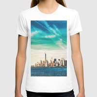 skyline T-shirts featuring NYC Skyline by Vivienne Gucwa
