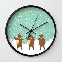 Bears as Three Kings Wall Clock
