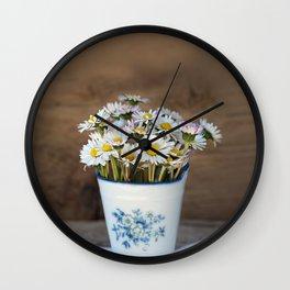 Daisy Flower Bouquet Wall Clock