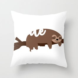 Sloth Lover Cute But Lazy Sloth Gift Throw Pillow