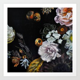 Autumnal in Black Art Print