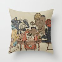 poker Throw Pillows featuring Polaroid Poker by Romayne Robinson