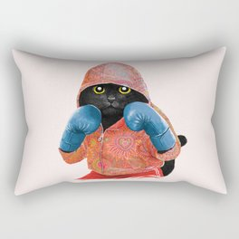 Boxing Cat 2  Rectangular Pillow