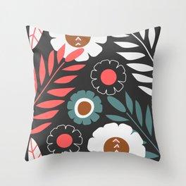 Tribal floral decor Throw Pillow