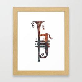 Jazzed Framed Art Print