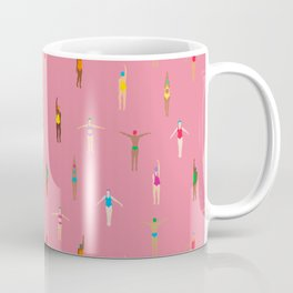 Swimmers in a Sea of Pink Coffee Mug
