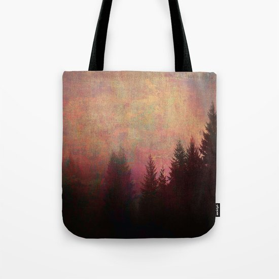 Repose, Abstract Landscape Trees Sky Tote Bag