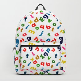 colourful alphabet Backpack