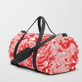 Big waves Red Duffle Bag