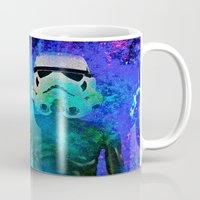 stormtrooper Mugs featuring Stormtrooper   by Saundra Myles