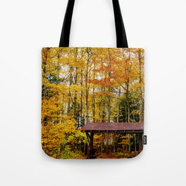 Fall/Autumn Hideaway in Wisconsin (Landscape Nature Photography) Tote Bag