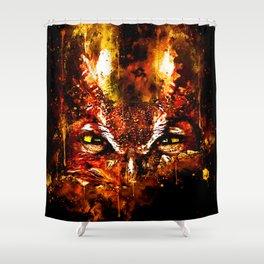 great horned owl bird close up wsstd Shower Curtain