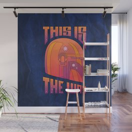 """Retro Mando - Orange Sunset"" by Berlin Michelle Wall Mural"