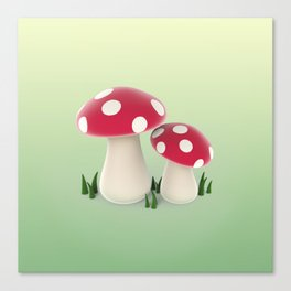 red mushrooms Canvas Print