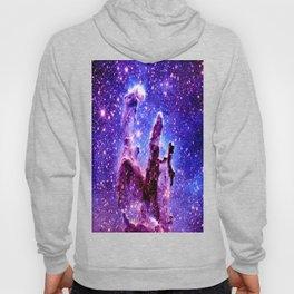 Galaxy Nebula : Pillars of Creation Purple Blue Hoody