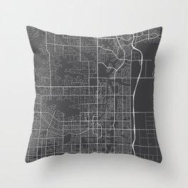 Scottsdale Map, USA - Gray Throw Pillow