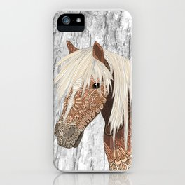 Haflinger Horse iPhone Case
