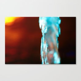 WATER FOUNTAIN STREAMS UP WITH LIGHT-7003 Canvas Print