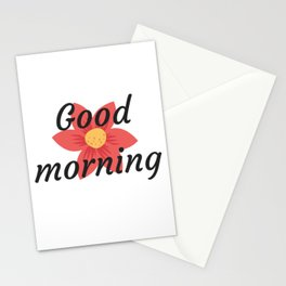 Good morning | Buenos días Stationery Cards