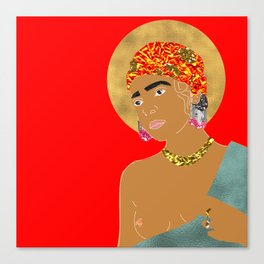 Mary in Red Canvas Print