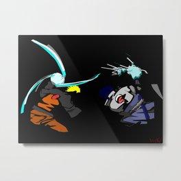 brotherhood, Naruto VS Sasuke Metal Print