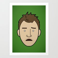 Faces of Breaking Bad: Jesse Pinkman (Early) Art Print