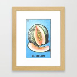 El Melon Framed Art Print