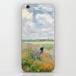 Poppy Fields near Argenteuil by Claude Monet iPhone Skin