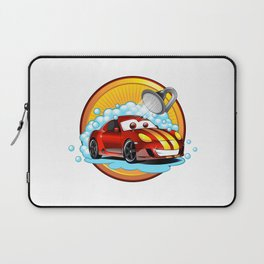Funny cartoon Car wash  Laptop Sleeve