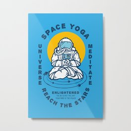 Space Yoga Metal Print