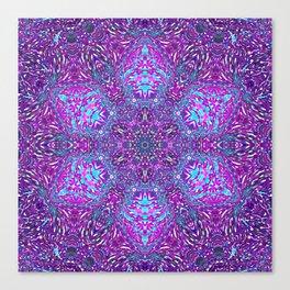 Pink, Purple, and Blue Mandala Canvas Print