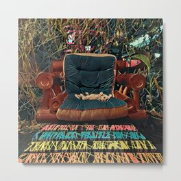 Psychedelic Cat - Thailand Metal Print