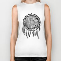 dream catcher Biker Tanks featuring Dream Catcher by Astrablink7
