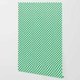Green Checkerboard Pattern Wallpaper