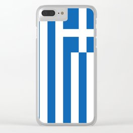 Flag of Greece, High Quality image Clear iPhone Case