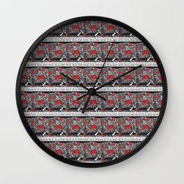 Mt Ruapehu/Pohutukawa Stamp Collage Wall Clock