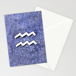 Zodiac sign : Aquarius Stationery Cards
