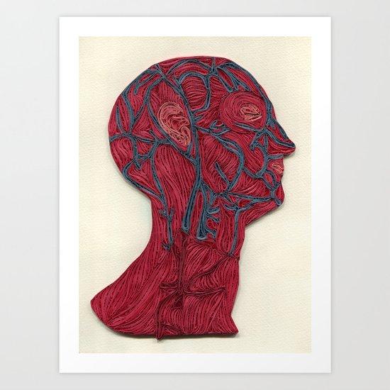 veins of the head Art Print
