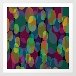 Oval Abstract Pattern Art Print