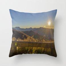 Sunrise on the Blue Ridge #2 Throw Pillow