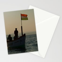 Dolphin Boat with Indian Flag Palolem Stationery Cards