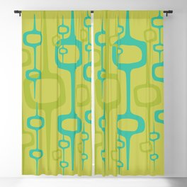 Eclectic Mid Century Modern Abstract Honeycomb Pattern Blackout Curtain